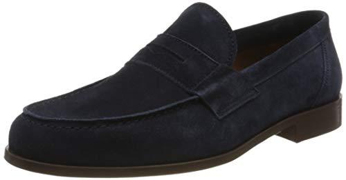 Lottusse L7212, Mocasines (Loafer) Hombre, Azul (Camoscio Marino Camoscio Marino), 42 EU