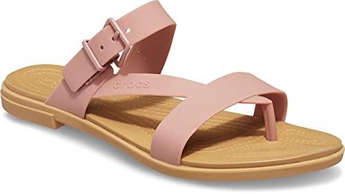 Crocs Tulum Toe Post Sandal Pale Blush 9 M