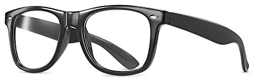 Clear Lens Non-Prescription Retro Fashion Nerd Glasses for Men Women - Cosplay Costume Fake Eyeglasses Frame