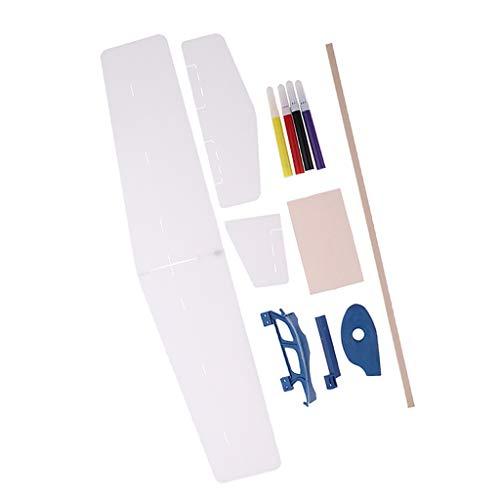 sharprepublic Mano Que Lanza El Kit del Modelo del Planeador De La Espuma Que Lanza DIY Usted Mismo Juguete Que Vuela del Aeroplano - 400mm Largo, 390mm envergadura