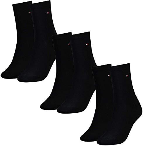 Tommy Hilfiger Damen Socken, Classic, Strümpfe, 6er Pack (Schwarz, 35-38 (6 Paar))