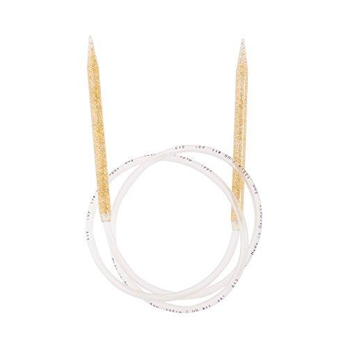 Addi Aiguilles à tricoter circulaires avec paillettes 8 mm 100 cm