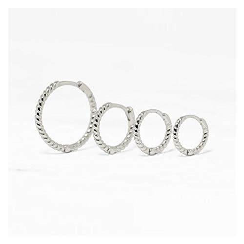 BOSAIYA SS1 2 unids 925 círculo de Plata esterlina aretes óseos de Oreja Ronda Pendientes para Mujeres para Mujeres Hombres Fiesta Boda Fina Pendiente joyería TL0412