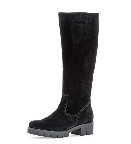 Gabor Damen Stiefel,Best Fitting,Reißverschluss,Schaftweite M,Übergrößen,Optifit- Wechselfußbett, elegant Women's,schwarz,38.5 EU / 5.5 UK