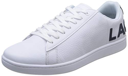Lacoste Carnaby EVO 120 7 US SMA, Zapatillas para Hombre, Blanco (Wht/Nvy), 43 EU