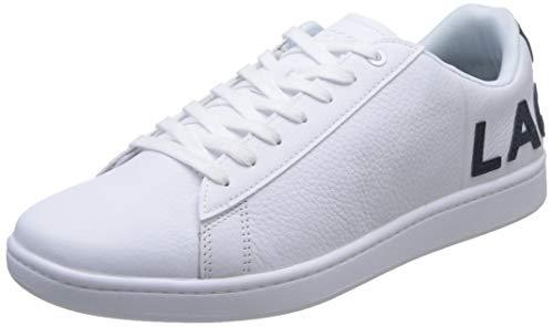 Lacoste Mens Carnaby EVO 120 7 US SMA Sneaker, Weiß (Wht/NVY), 42.5 EU
