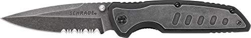 Schrade SCH505S Cuchillo tascabile,Unisex - Adulto, Negro, un tamaño