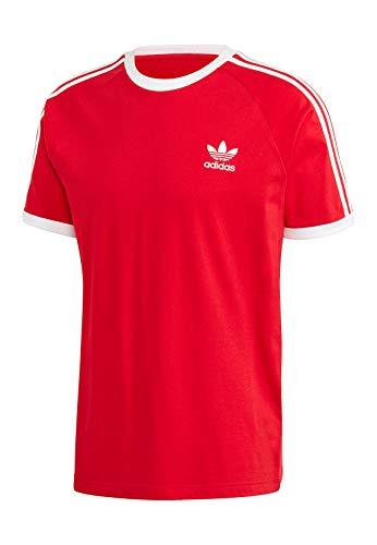 adidas 3-Stripes tee T-Shirt, Escarlet, S Mens