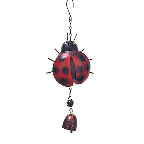 Carillón de viento de abeja con gancho colgante campana de metal para jardín y decoración del hogar
