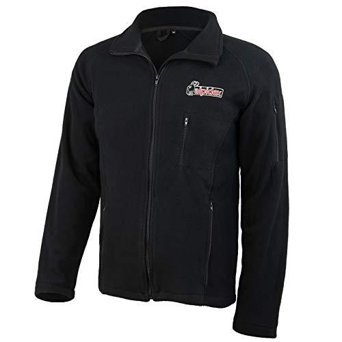 ALPIDEX Fleecejacke Herren leichte Jacke Full Zip, Größe:M, Farbe:Black
