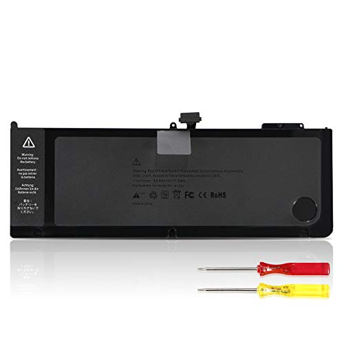 K KYUER 77.5Wh A1321 Batteria per MacBook Pro 15' 15.4' A1286 (Only Mid 2009 2010) EMC 2324 2325 2353 MB985LL/A MB985F/A MB986LL/A MC118LL/A MC371LL/A MC371B/A MC372LL/A MC373LL/A MC373B/A 9-Cell