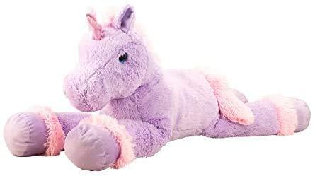 Knuffel enorme knuffel eenhoorn knuffel knuffel XXL 110 cm lang in paars / roze om van te houden