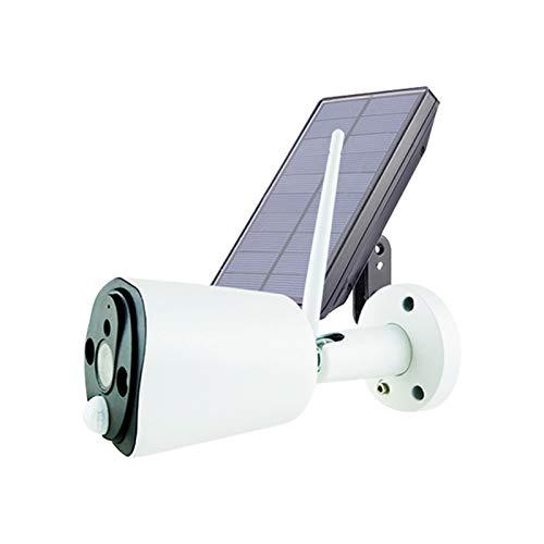 ZSGG Cámara de Seguridad Inalámbrica con Energía Solar para Exteriores Cámara Ip 1080P Cámara de Vigilancia Wifi con Visión Nocturna Infrarroja Inteligente de Alta Definición
