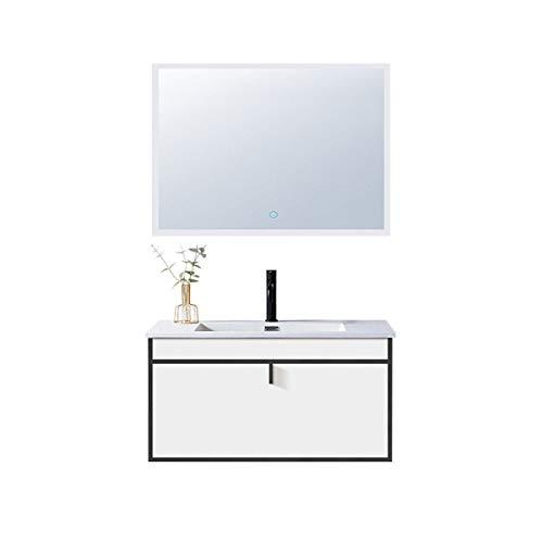 Juego de baño con espejo de gabinete Gabinete de baño inteligente con gabinete de lavabo de madera con múltiples capas combinada con gabinete de vanidad de baño combinado Muebles para el hogar decorat
