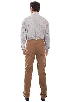 Scully Men's Rangewear Canvas Pant, Brown - 34