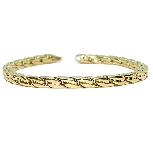 Impresionante Pulsera en Oro 18 quilates | Joyería | Diseño Italiano | Brazalete para ella, Regalo para mujer, San Valentín, Día de la Madre