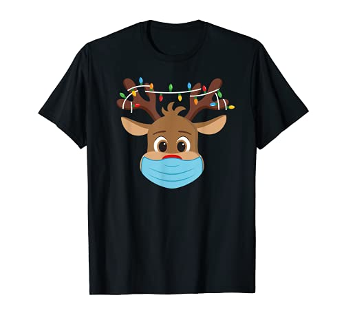 Rudolph Renne Nez Rouge T Shirt Pére Noel Cadeau Mignonne T-