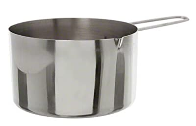 American Metalcraft MCW200 2-Cup Stainless Steel Measuring Cup with Wire Loop Handle, Silver