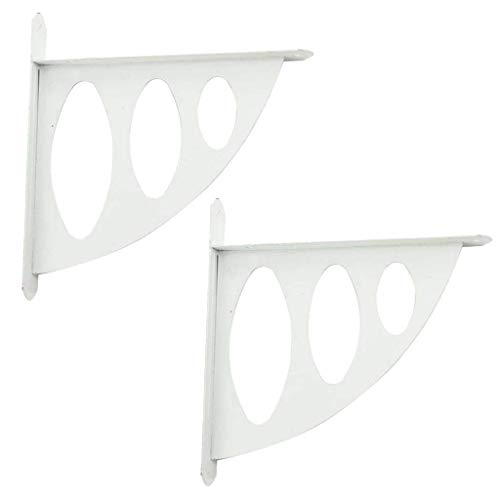 Right angle bracket 2 Pcs Decorative Wall Mount Shelf Bracket, Corner Brace Support Fastener,202 x 192 mm Heavy Duty Industrial for kitchen and living room