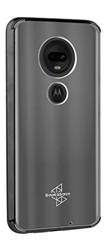 Capa Protetora Cristal Bumper Transparente com Lateral Moto G7 Plus, Motorola, 4885.0, Preta