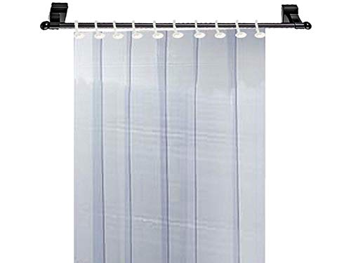 Kuber Industries 1 MM Thick PVC 6 Strips AC Curtain for Offices & Shop -7 Feet (Dimension-84 * 54 Inches) Code- Stripes08