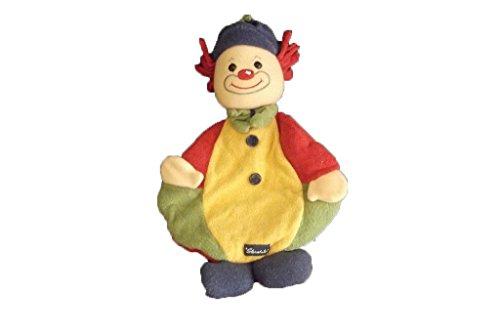 X-anderen–Kuscheltier Sterntaler Clown flach grün gelb rot Mütze blau–3067