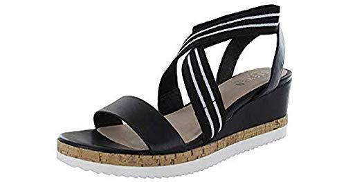 STEVEN by Steve Madden Women's Nc-Saria Wedge Sandal, Size US 12 Black\Multi