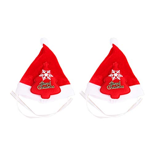 yiyiter kerstmuts dikke zachte stof Kerstmis hoed Kerstmuts voor katten honden huisdieren