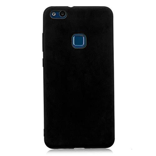 cuzz Custodia Huawei P10 Lite+{Film di Vetro temperato}Silicone TPU Cover Morbida Protettiva Custodia Ultra Sottile Leggero Cover-Nero