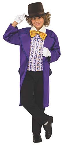 Rubie's - Disfraz oficial de Willy Wonka y The Chocolate Factory para niños