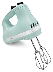 KitchenAid Speed Ultra Power Hand Mixer, Ice Blue .