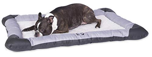 """Sealy Dog Bed Sealy Quilted Memory Foam Heavy Duty Crate Pad Gray/Black, Medium 24"""" x 36"""""""