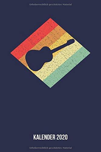 Kalender 2020: Terminplaner A5 - Retro Vintage Akustikgitarre Wochenkalender & Monatsplaner 2020 - Geschenk für Gitarristen