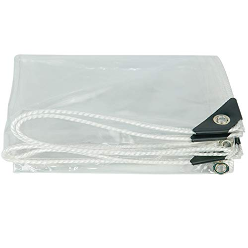 FXPCYGZ Lonas Transparente de múltiples PVC Funciones Impermeable Lona Cubierta, 0.35mm Lona Invernadero Pesada Cubierta Transparente Tela Impermeable, para Techo/Camping(1.2 * 4m(3.9 * 13.1ft))