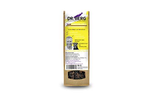 Dr. Berg Love-RINDERLUNGE mit Zitronenmelisse: getreidefreies & gesundes Leckerli für Hunde - extra verträglich und lecker durch natürliche & hochwertige Zutaten (1 x 50 g)