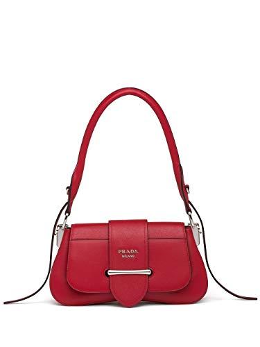 Luxury Fashion | Prada Dames 1BD228VOJN2BB0F068 Rood Leer Handtassen | Lente-zomer 20