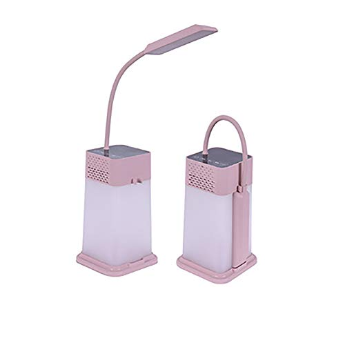 Led-tafellamp, nachtlampje, warm licht, instelbare helderheid, opvouwbare lamp met bluetooth-luidspreker, MP3-speler voor buiten