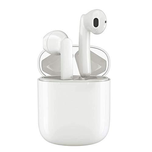 i18 Casques et écouteurs Bluetooth sans Fil Oreillette Bluetooth 5.0 Automatique à réduction de Bruit dans l'oreille avec étui de Chargeur Appels Mains Libres pour iPhone Samsung Huawei Xiaomi