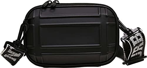 Urban Classics Bolso Unisex Compacto Mini Crossbody Bag Resistente con Carcasa de plástico Duro para Hombres y Mujeres, Color Negro, Talla única