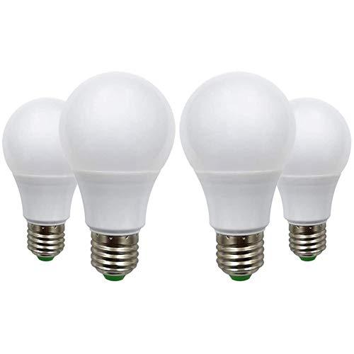 Ampoules LED E27 12V 5W (A60 50W Halogène) Basse Tension Edison Screw Dans Les Ampoules Blanc Chaud 2700K, Lot de 4