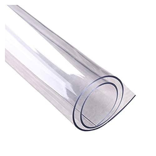 ASPZQ Klare Stuhlmatte Hartbodenschutz Wasserdicht Kratzfest für Low Und Medium Pile Carpet Desk Mat (Color : 2.0mm, Size : 80x100cm)