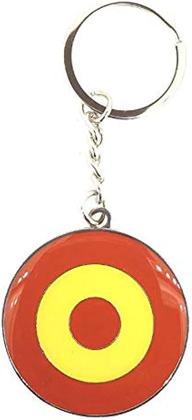Gemelolandia   Llavero Bandera RAF Española Escarapela Española   Para Guardar y Tener recogidas las Llaves   Porta llaves Original y Práctico   Organizador de llaves Compacto