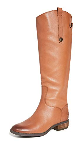 Sam Edelman Women's Penny Classic Equestrian Boot, Whiskey Leather, 8 Wide US