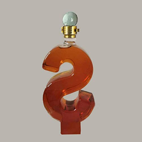 HYJMJJ Jarra de Whisky Decantadores de Vino de Licor Whisky - Forma con tapón de Vidrio, Vidrio sin Plomo bellamente en Forma, Beber/Amantes del Vino Regalo de Whisky para Hombres
