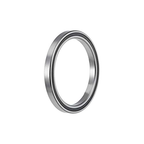 uxcell 6710-2RS Deep Groove Ball Bearings 50mm x 62mm x 6mm Double Sealed Chrome Steel Z2 ABEC1