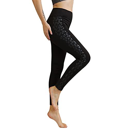 SOGNO D'ORO Leggings Deportivos Mujer Mallas de Yoga de Cintura Alta Mallas Cepilladas Pantalones Push Up Ropa Mate de Fitness para Entrenamiento de Gimnasio