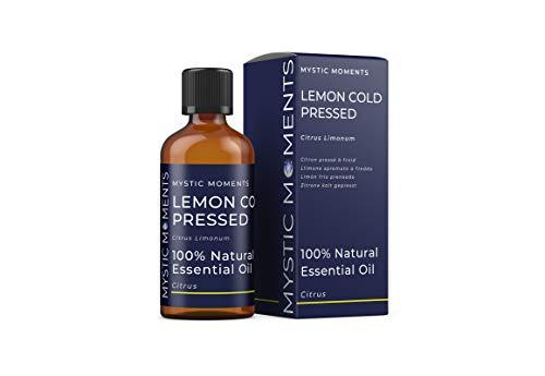 Mystic Moments Olio Essenziale di Limone Pressato A Freddo - 100ml - 100% Puro