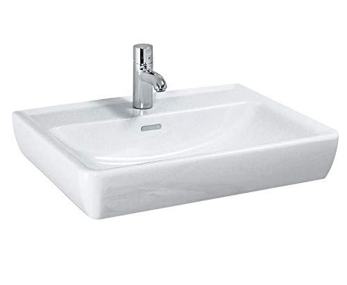 Laufen PRO A Waschtisch, 1 Hahnloch, mit Überlauf, 600x480, weiß, Farbe: Manhattan