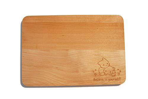 generisch Tabla de Madera para Desayuno, diseño de Unicornio, Panda y Gatito con Texto Kawaii