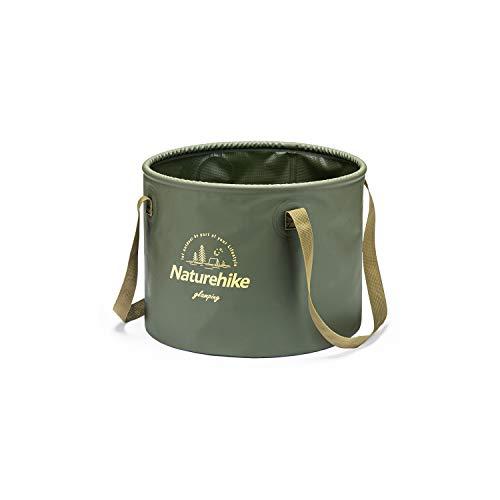 Naturehike 折りたたみバケツ円筒形 持ち運び 畳めるデザイン20L 大容量 布バケツ 自立式 足浴器 洗面器 水...